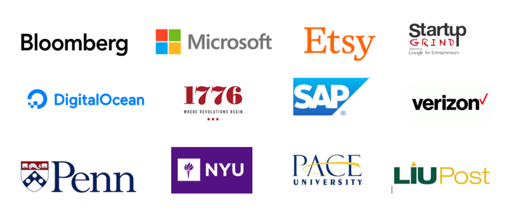 Previous partners and collaborators for NYC Tech Tour programs